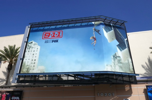 911 season 2 Hanging balcony billboard
