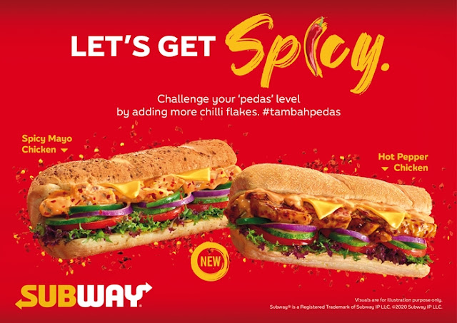 Food, Sandwich, Subway, Subway Malaysia, Subway Sandwich, Spicy Mayo Chicken, Subway Hot Pepper Chicken, #TambahPedas, Subway Hot & Spicy