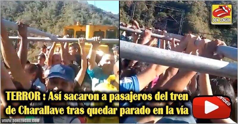 TERROR : Así sacaron a pasajeros del tren de Charallave tras quedar parado en la vía