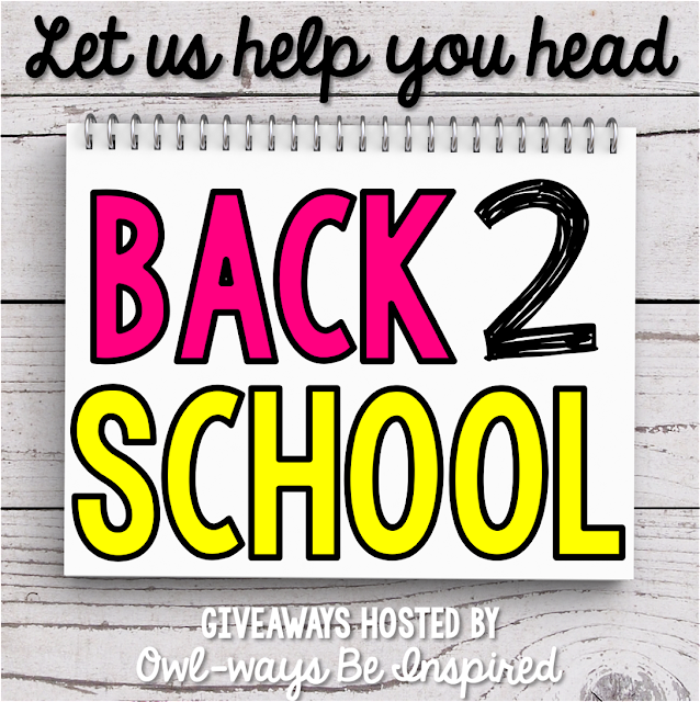 The teacher bloggers at Owl-ways Be Inspired are GIVING AWAY over $1,000 worth of great stuff to make Back to School easier for YOU!