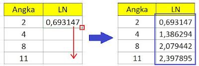 tutorial menghitung ln pada microsoft excel