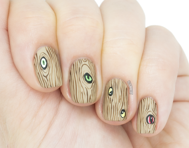 spooky eyeball nail art