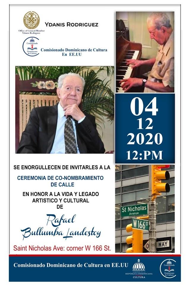 El Comisionado Dominicano de Cultura hará co-nombramiento de calle en honor al músico Bullumba Landestoy