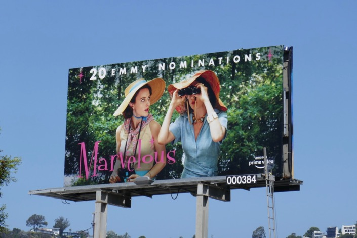 Mrs Maisel 2019 Emmy nominee billboard