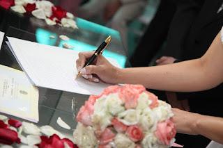 Firma del Acta Matrimonial