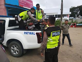 Satlantas Polresta Jambi Tilang Puluhan Pengendara Roda Dua