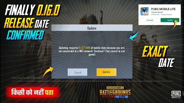 PUBG MOBILE LITE 0.16.0 UPDATE - RELEASE DATE IS CONFIRMED | PUBG MOBILE LITE 0.16.0 UPDATE PLAY STORE RELEASE DATE