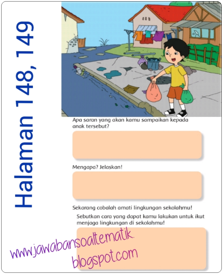Kunci Jawaban Buku Siswa Kelas 3 Tema 6 Halaman 144 145 146 147 148 149 Jawaban Soal Tematik