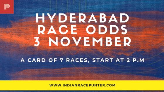 Hyderabad Race Odds 3 November