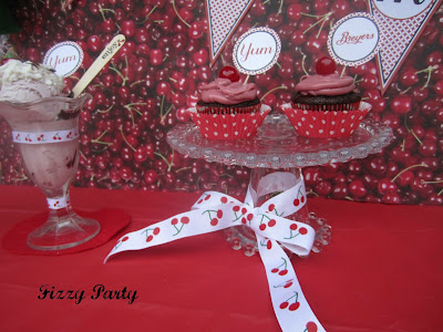 Cherry-Ice cream party-cookies-printables-ribbon