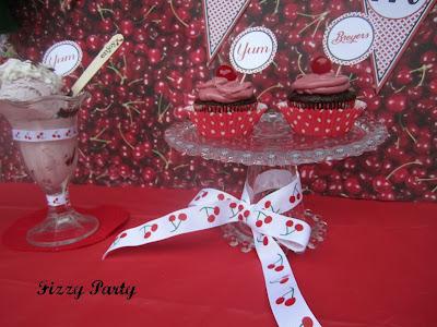 Cherry-Ice cream party-cookies-printables-ribbon