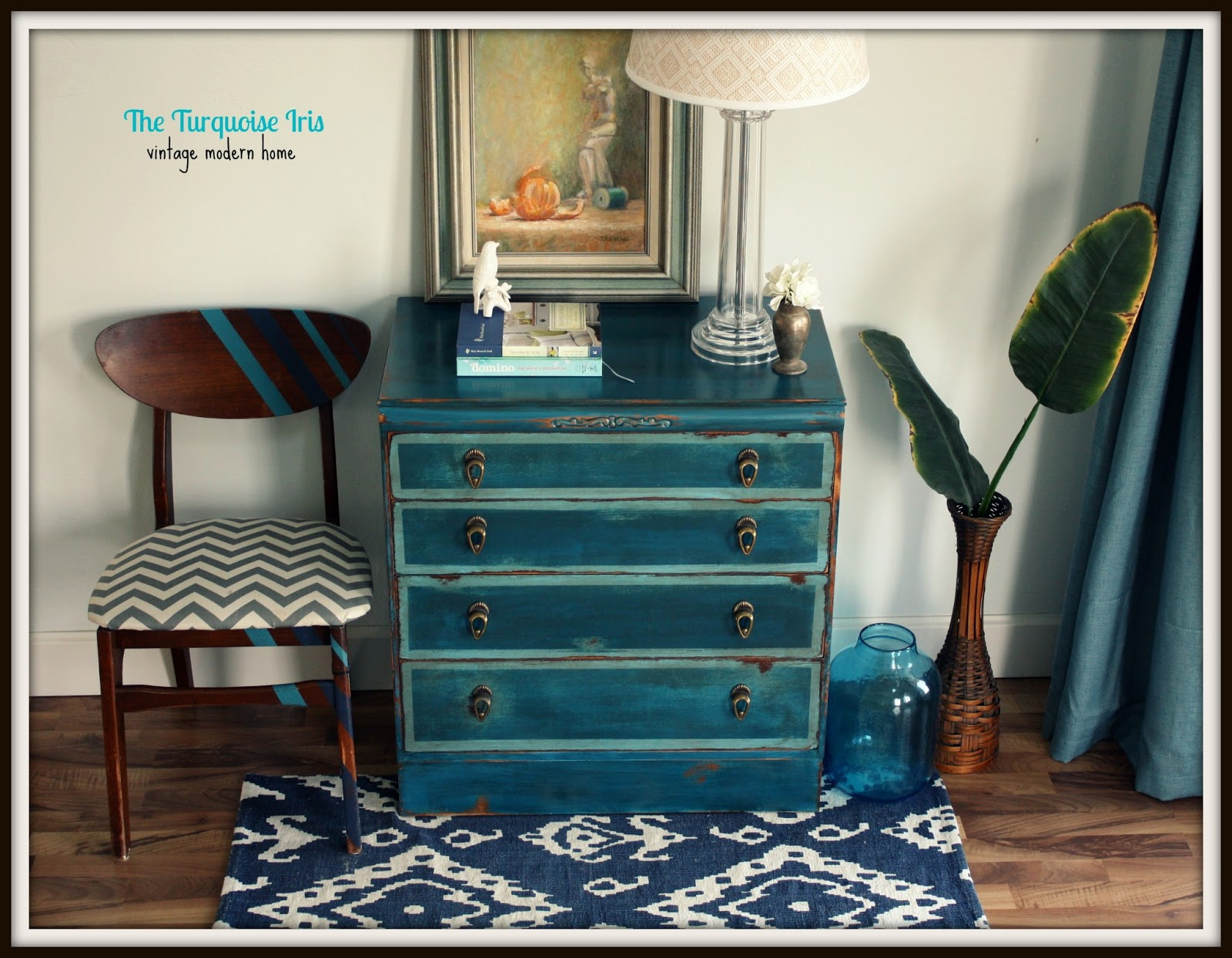 Furniture & Art: Teal Petite Dresser