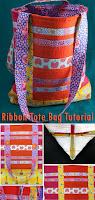 Ribbon Tote Bag Tutorial
