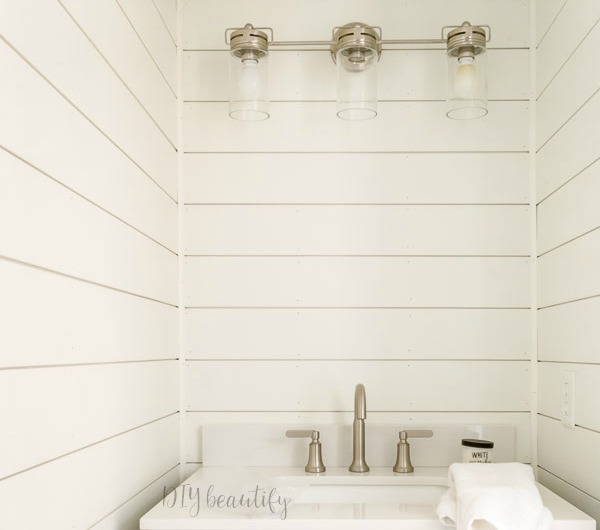 the easiest way to install diy shiplap