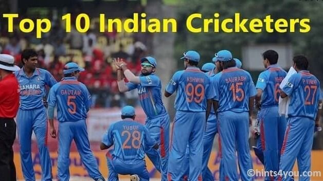 Top Indian Cricketers: