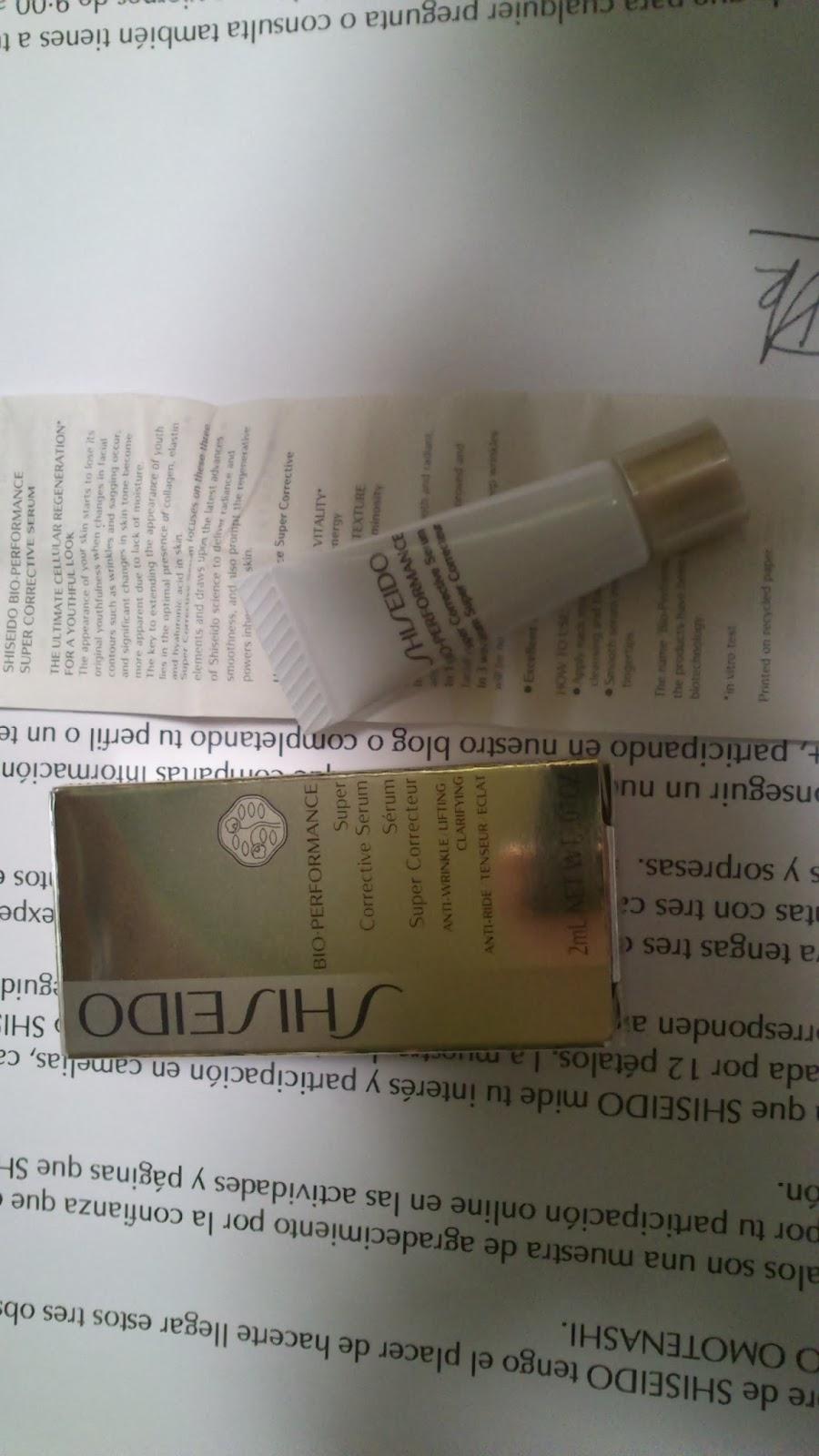 muestras shiseido