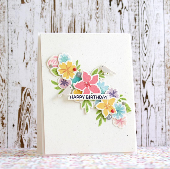 Mini Modern Blooms stamp set and Die-namics - Svetlana Pavlova #mftstamps