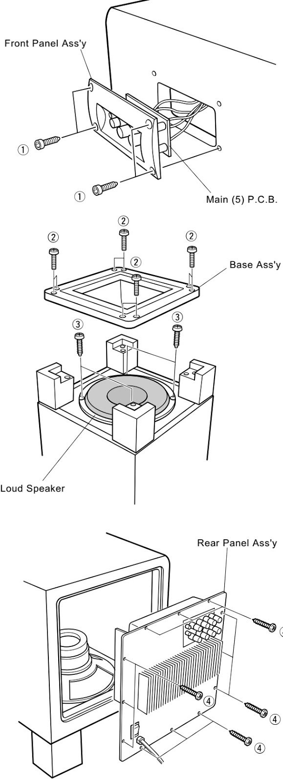 Yamaha Yst Sw320 Subwoofer Circuit Diagram Adjustments When Assembling The Rear Panel Check To Ensure That Gasket Is Not Damaged So As Prevent Air Leakage From Occurring