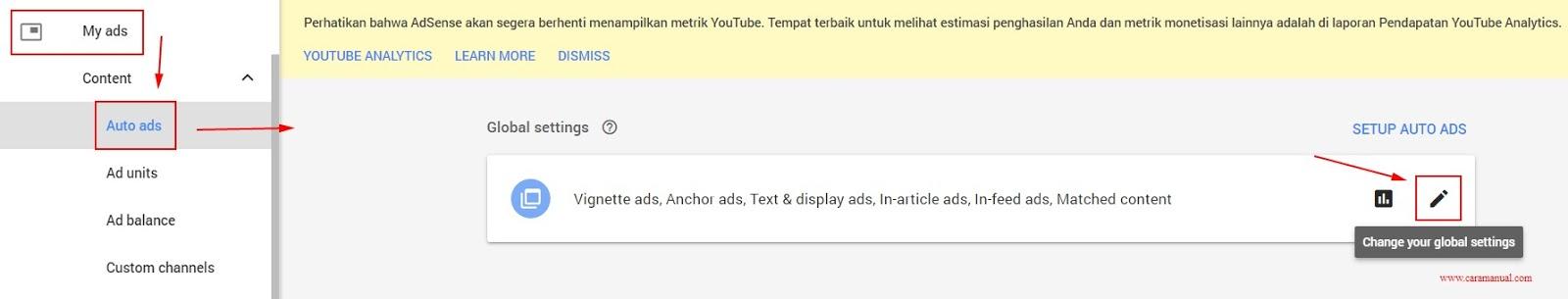 Cara Memasang Iklan Otomatis AdSense di Blogger 4