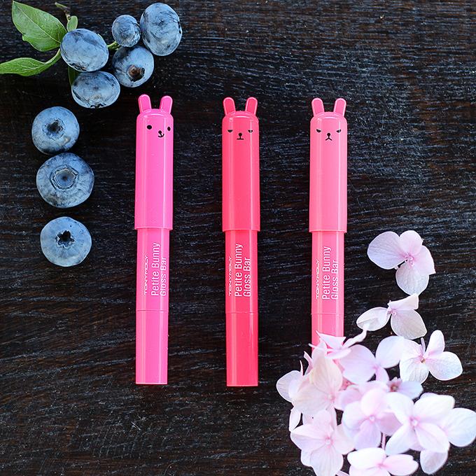тони моли - Petite Bunny Gloss Bar обзор  #4 Juicy Cherry, #6 Juicy Orange, #9 Neon Red