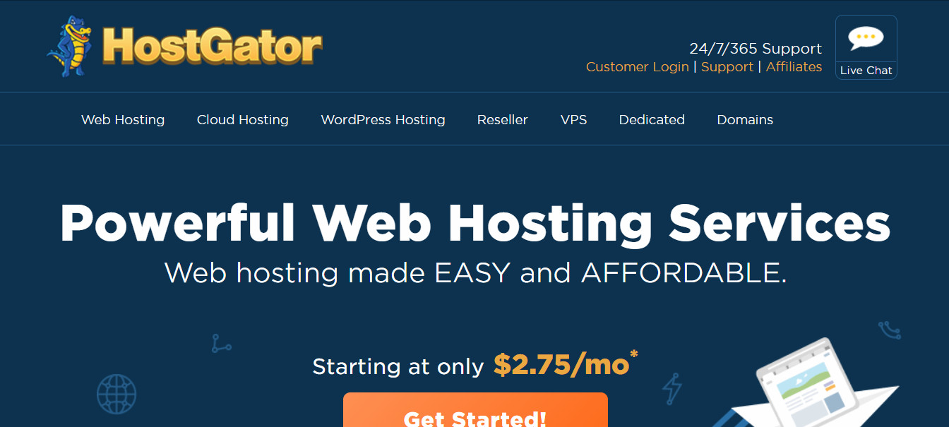 hostgator affordable web hosting services for wordpress blogs and small business owners