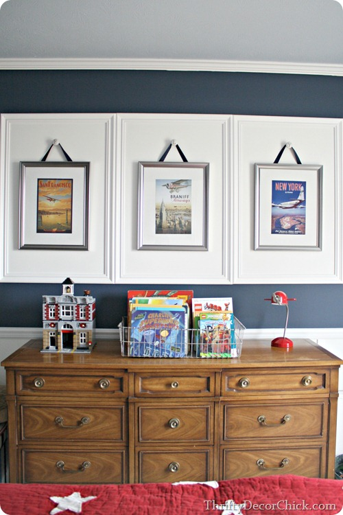 Hang frames with knobs