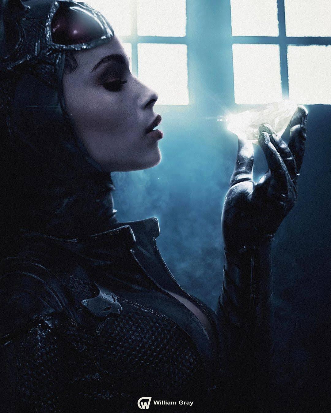 Zoë Kravitz as Catwoman by William Gray : マット・リーヴス監督の待望の「ザ・バットマン」で、新たにセリーナ・カイルの役を演じるゾーイ・クラヴィッツが、キャットウーマンに変身した姿を描いてみたクールなファン・アート ! !