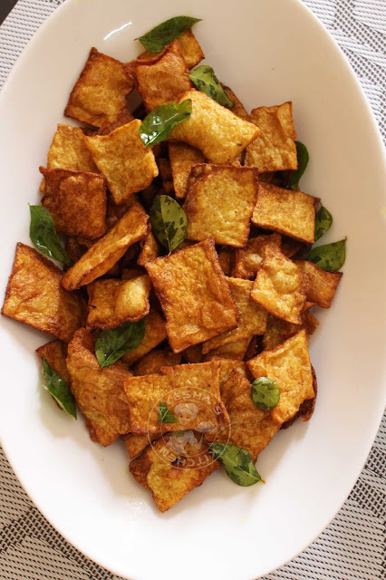 elephant yam crispy fried stir fry chena porichath easy recipe with yam curry