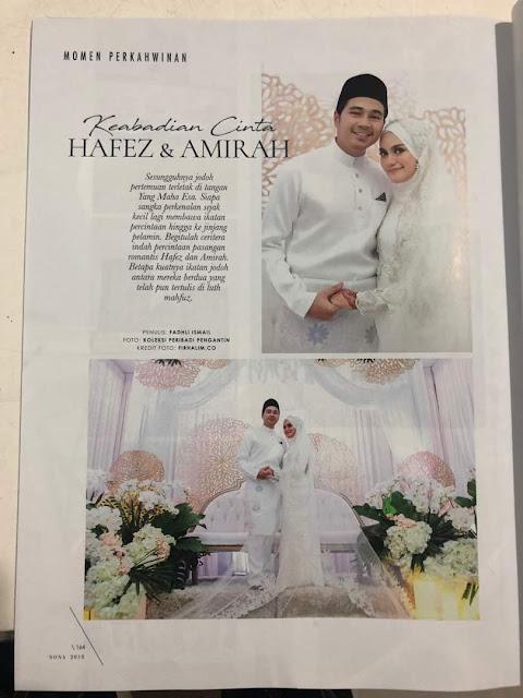 Majlis Perkahwinan Hafez dan Mia dalam Majalah Nona Ogos 2018