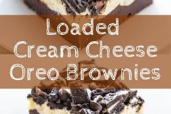 Loaded Cream Cheese Oreo Brownies