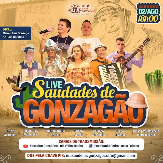 """Museu Luiz Gonzaga de Dom Quintino promove Live """"Saudades de Gonzagão"""" e celebra 32 anos de morte do Rei do Baião"""