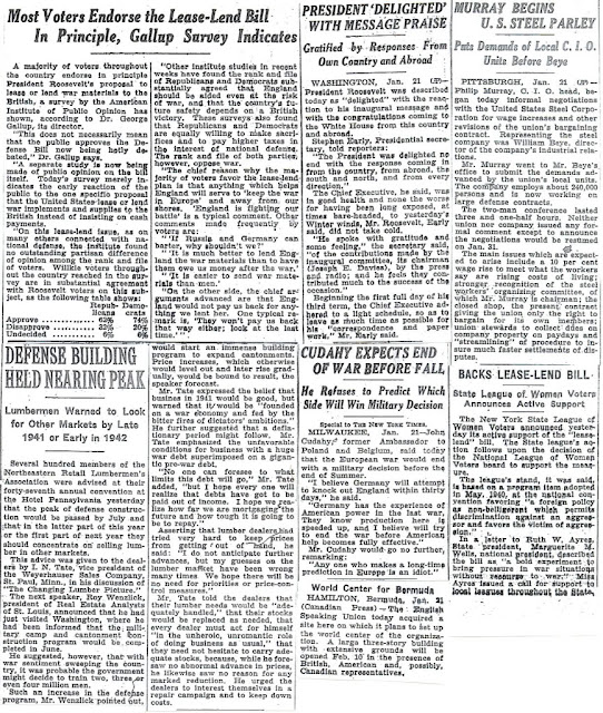 22 January 1941 worldwartwo.filminspector.com New York Times