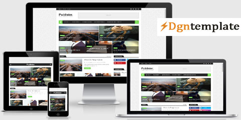 Publister Responsive Blogger Template | high-quality themes