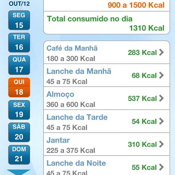 Dieta de 2500 calorias para engordari