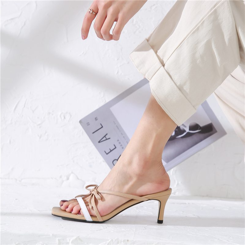 Open toe stiletto sandals
