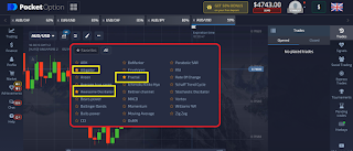 What indicators are suitable for use when trading in pocket options