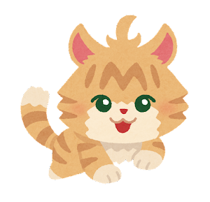 猫のキャラクター(茶色)