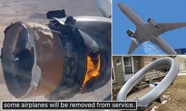 Mesin Boeing 747 Terbakar di Udara, Puing Berjatuhan Lukai 2 Orang