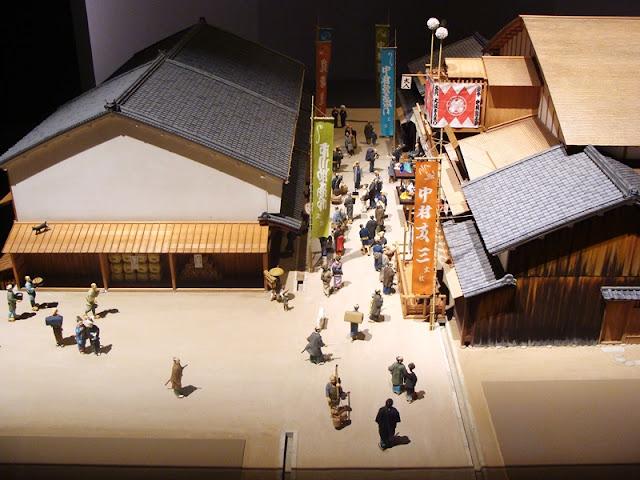 Geschichtsmuseum Osaka Stadtmodell
