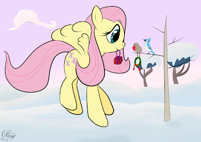 Festive Fluttershy 3 by tall-guy-2552