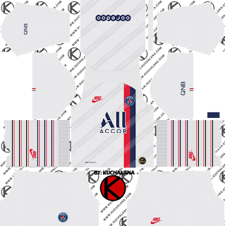 Paris Saint-Germain (PSG) 2019/2020 third Kit - Dream League Soccer Kits