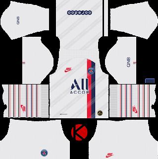 Paris Saint-Germain (PSG) 2019/2020 third Kit - Dream League Soccer Kits