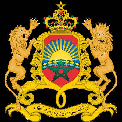 Coat of arms - Flags - Emblem - Logo Gambar Lambang, Simbol, Bendera Negara Maroko