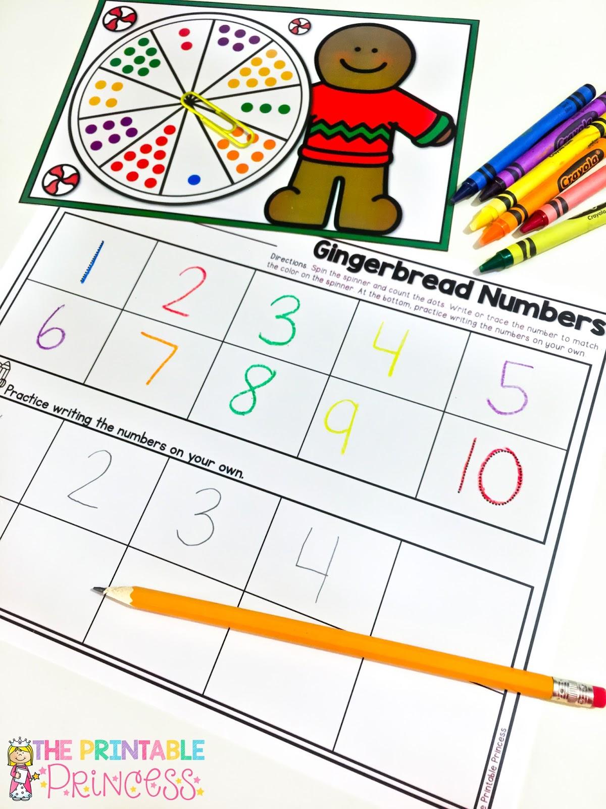 the printable princess december math and literacy fun plus ideas