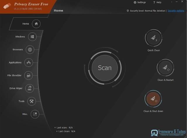 Privacy Eraser Free : un logiciel gratuit pour protéger votre vie privée et nettoyer toutes vos traces
