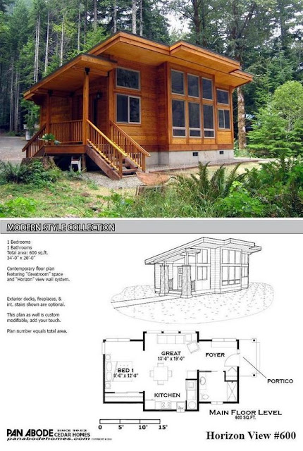 แบบบ้านขนาด 1 ห้องนอน