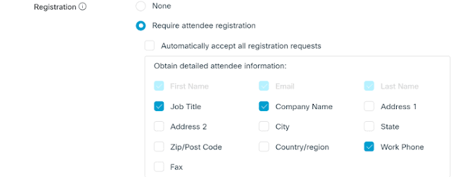Registration Form Webex