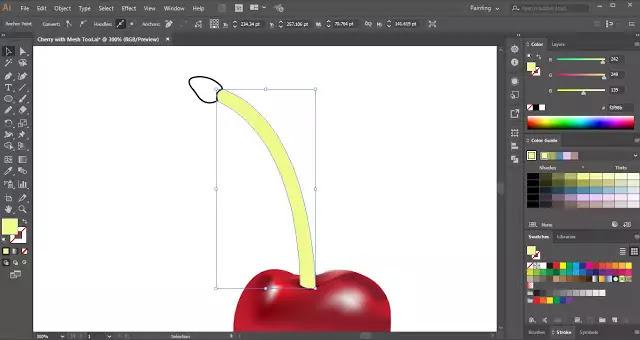 Gradient Mesh Tool in Adobe Illustrator