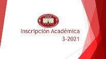 Inscripción Académica FACES 3-2021