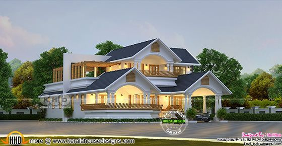 Traditional + contemporary house 2562 sq-ft